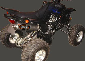 Silencieux Atv Line YFM 660 RAPTOR Big Oval Alu