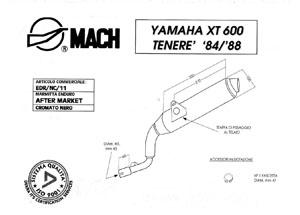Silencieux EDR XT 600/TENERE 1984/1988 Noir