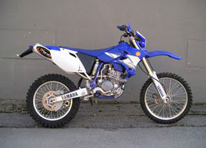 Silencieux Motard WR 250 F 2004 Small Oval Titane