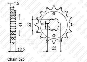 Pignon Xl 600v Transalp 87-88