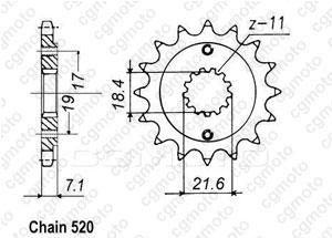 Pignon Xr 250 R 96-01