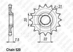 Pignon Crf 250 X/R 04-