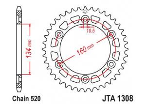 Couronne Racing Alu Cbr600/1000 Rr 03-04