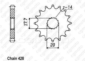 Kit chaine Sachs 125 Zz