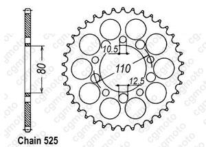 Kit chaine Triumph 865 Speedmaster