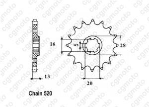 Kit chaine Tm 80 Cross/Enduro G.Roues