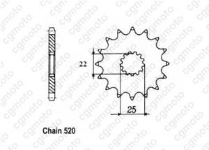 Kit chaine Tm 250 Cross/Enduro