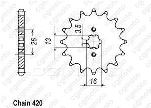 Kit chaine Yamaha Rd 50 M Batons