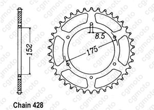 Kit chaine Yamaha Tdr 125 Italie