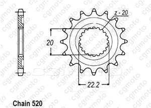 Kit chaine Yamaha Wr 250 X/R