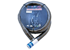 Antivol Câble Articulé Ø22mm x 1m50 Gaine Fumée