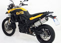 Silencieux Titane BMW F 650 GS 2008/2010 Slip-on Embout Carbone F 800 GS 2008/2010 E13