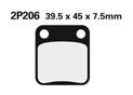 Plaquette de frein Nissin 2P206SS semi-metallique