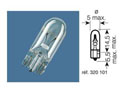 BOITE 10 ampoules 12V-1,2W / TEMOINS CULOT VERRE CULOT W2X4.6D
