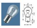 BOITE 10 ampoules 12V-21W / STOP CULOT BA15S