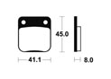 Plaquettes de frein Bendix MA36 Organique